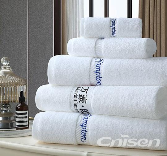 螺旋平织缎档酒店毛巾