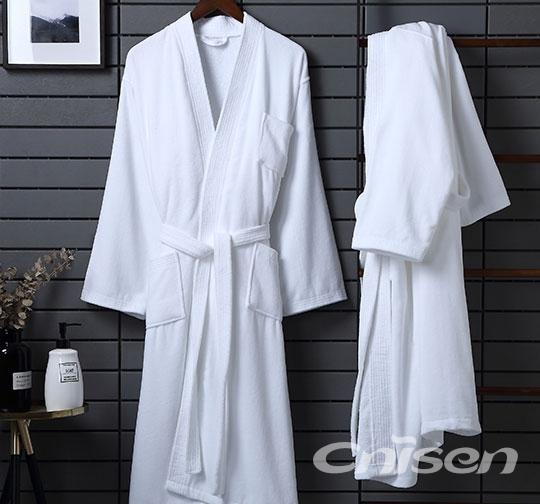 全棉割绒和服领浴衣(加绣字)