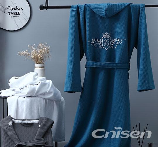 新型针织棉套头舒适浴衣