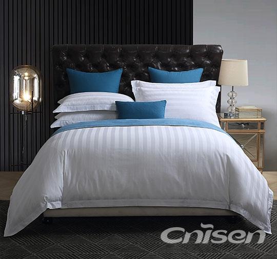 浙江宾馆1cm/3cm缎条布草床上用品