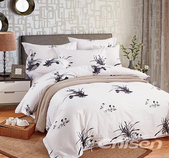 浙江有色活性印花高档宾馆家用布草床品套件