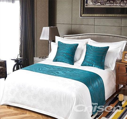 酒店波纹布草床围巾