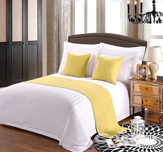 酒店纯色床围巾布草