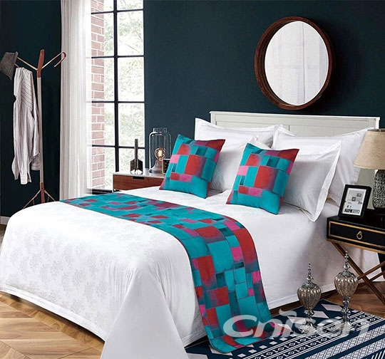 酒店雅格布草床围巾