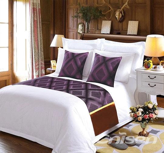 酒店布草特色巴宝莉格子床围巾
