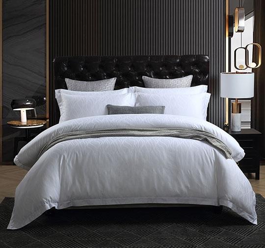 酒店宾馆提花布草床上用品