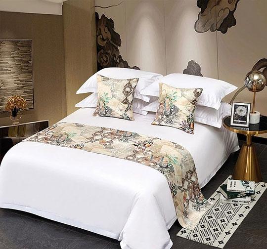 缎面酒店布草床围巾