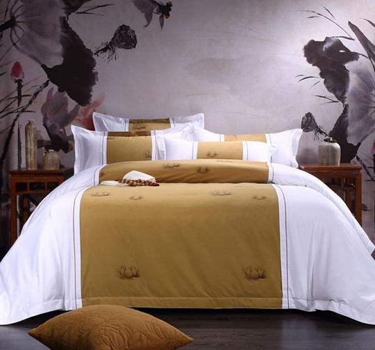 民宿酒店提花布草床上用品